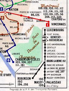 Paris METRO Metropolitan Subway Bus Map Galeries - Paris metropolitan map