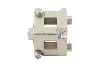 BRAKE DISC REWIND CALIPER CUBE TOOL 3/8 DRIVE * 5 PIN FOR DIFFERENT VEHICLES