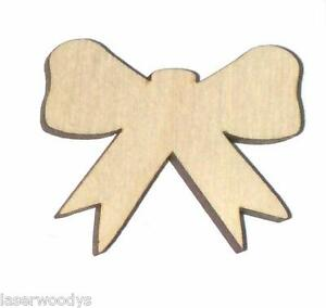 Heather-039-s-Bow-Unfinished-Wood-Shape-Cut-Out-HB8076-Crafts-Lindahl-Woodcrafts