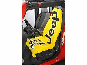 JT2GOYELL Seat Armour Yellow Jeep Beach Towel Seat Cover