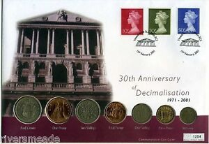 Coin LARGE Cover 2001, Decimalisation Anniversary 1204