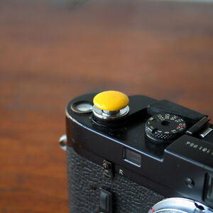 Yellow Standard Large Soft Release Button f/ Leica M3 M4 M6 MP M8 M9 Nikon Canon