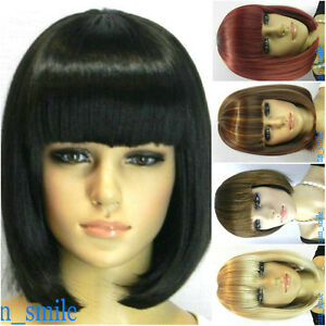 BOB-style-5-colors-Straight-Bang-short-Straight-Wig-wigs-with-wig-cap