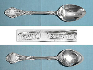 WENDELL MFG CO. STERLING DESSERT / OVAL SOUP SPOON ~ ATHENA ~ MONO F