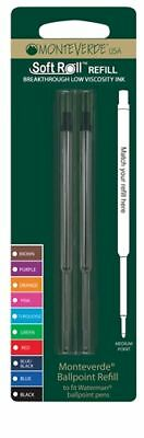 2 x Waterman Compatible Ballpoint Pen Refills BLACK