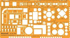 diseño de muebles de arquitectura escala 1:50 plantilla de ... - Dibujo De Muebles
