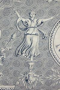 Antique-French-blue-toile-de-Jouy-19th-roller-printed-cloth-Pallas-et-Venus