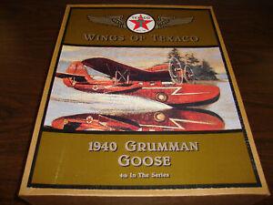 Wings-of-Texaco-4-1940-Grumman-Goose-Diecast-Coin-Bank-12-COA-1996