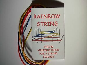 Rainbow Cat039s Cradle String and Instructions for Five Traditional Games - Forest Row, East Sussex, United Kingdom - Rainbow Cat039s Cradle String and Instructions for Five Traditional Games - Forest Row, East Sussex, United Kingdom