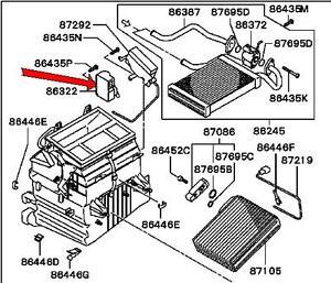 2002 2003 mitsubishi galant heater control motor genuine for 2002 mitsubishi galant window regulator replacement