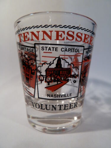 TENNESSEE SCENERY RED CLASSIC DESIGN SHOT GLASS SHOTGLASS