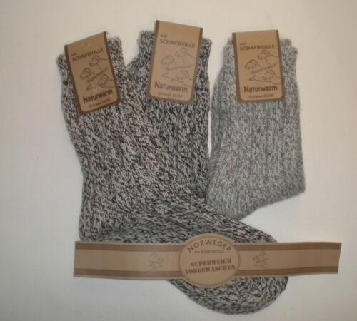 2 4 o 8 paia calze norvegesi Grob A MAGLIA 70/% lana di pecora TG. 35-49