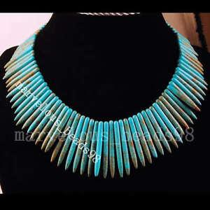 Elegant-Turquoise-Needle-Beads-Necklace-Jewelry-G0868