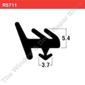 R5711-E-Upvc-Window-amp-Door-Rubber-Gasket-Seal-Strip-White-or-Black