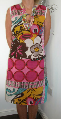 BOUTIQUE FLORAL COTTON TUNIC DRESS KAFTAN COVER UP EMBROIDERED SEQUIN 78026