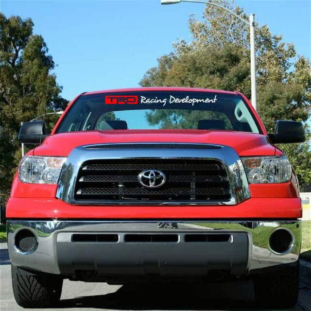 "Toyota TRD Racing Development Windshield Banner Decal 4"" x 38"""