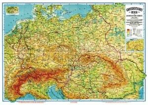 Landkarte-Grossdeutsches-Reich-1942-Deutschlandkarte-Kunstdruck-Schulkarte