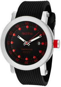 Red-Line-Watch-18000-01RD2-Mens-Compressor-Black-Dial-Black-Silicone