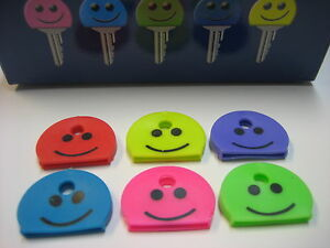 Lof-of-6-pc-Identification-Key-Caps-Smile-Face-Happy-Face-Key-ID-Caps-Covers
