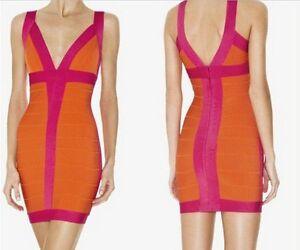 Free-shipping-Celeb-V-neck-bandage-orange-wedding-bodycon-Cocktail-Party-Dress