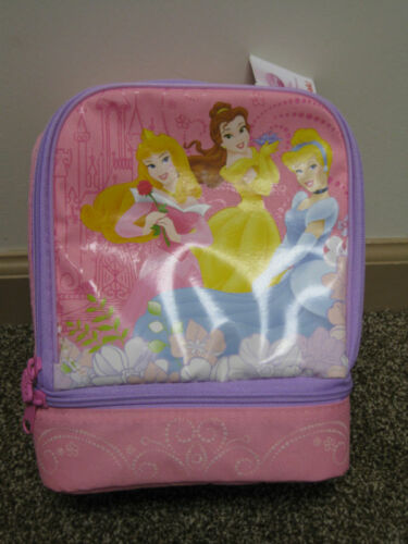 Disney Princess Pink Purple insulated Lunch Box Tote Carry Sack School Supplies