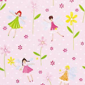 SOFT-COTTON-100-KID-CHILDREN-BEDDING-CLOTH-FABRIC-COMBI-FLORAL-STRIPE-PINK-44-034-W