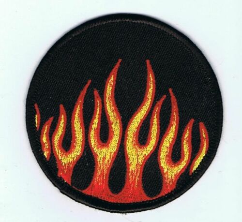 New, FLAMES FIRE Embroided IRON or SEW ON Fabric Patch