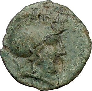 Larissa-THESSALIAN-LEAGUE-196BC-Athena-Horse-Ancient-GREEK-Coin-i21886