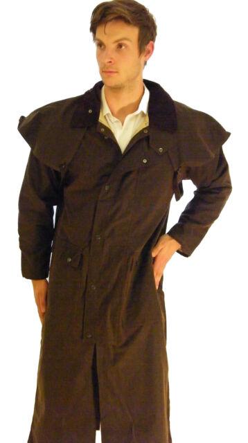 Campbell Cooper New Mens Ladies Long Walking Riding Wax Coat Jacket Brown XXXL