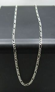 STERLING-SILVER-FIGARO-CHAIN-GAUGE-3mm-MADE-IN-ITALY-NEW