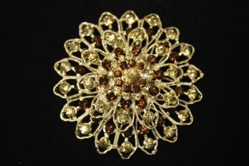 Ladies Women Stunning Diamonte Bridal //Wedding Jewellery Brooch Hijab Pins