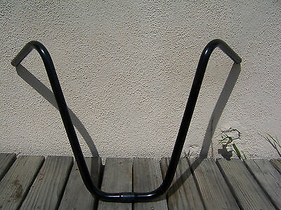 "BICYCLE BLACK APEHANGER HANDLEBAR 16"" BEACH CRUISER LOWRIDER CHOPPER MTB BMX"