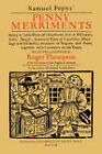 Samuel Pepys'  Penny Merriments by Roger Thompson (Paperback, 1977)
