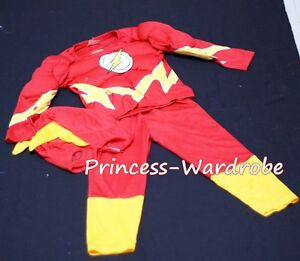 Halloween-Children-Costume-Muscle-Flash-Outfit-Set-Dress-Up-Party-Clothing-2-7Y
