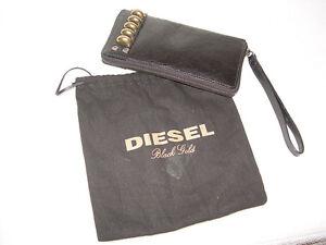 DIESEL-Black-Gold-Leather-Wallet-Purse-BNWT