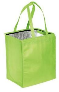 8-COLORS-HOT-or-COLD-INSULATED-GROCERY-TOTE-BAG-REUSABLE-ZIPPERED-OPENING