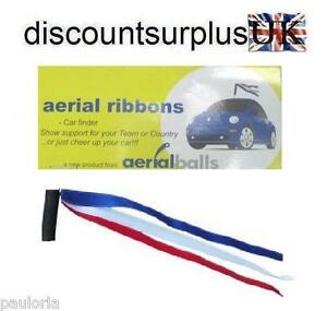 AERIAL-RIBBON-ANTENNA-TOPPER-BALL-RED-WHITE-amp-BLUE-Locate-your-car-easily
