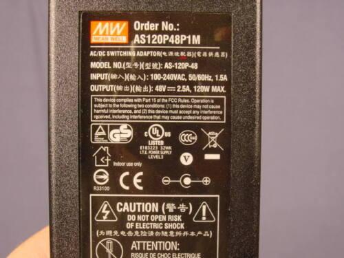 Etherwan AS120P48P1M POE Power Supply 48V 2.5 Amp AS-120P-48 NEW