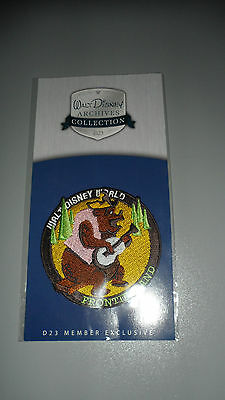 Walt Disney Archives Collection D23 Member Exclusive Frontierland Patch