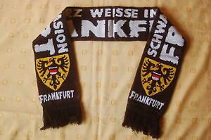 Frankfurt-Adler-schwarz-weisse-Invasion-Fan-Schal-Scarf-Fussball-Fussball-Soccer