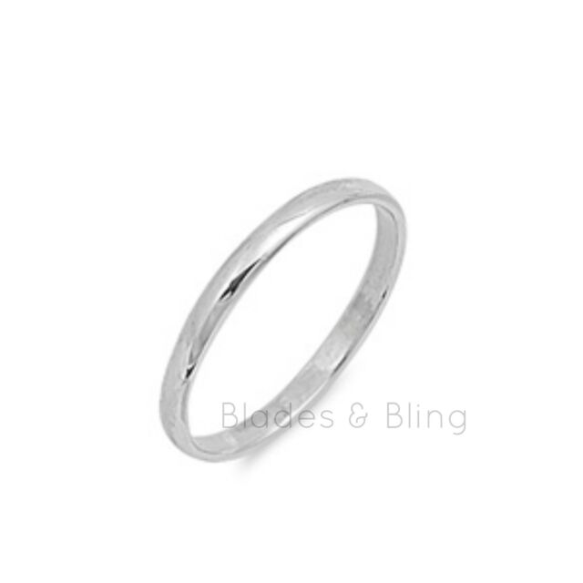 Ring Size 2.5 Sterling Silver Girls Boys Baby Band Ladies toe pinky unisex b22