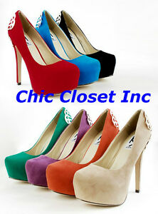 NEW-Platform-Wedge-High-Stiletto-Heels-Women-Metal-Back-Sexy-Women-Pump-Shoes