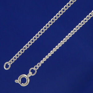 A-Pack-of-24-034-Silver-Plated-fine-2mm-Curb-Chains-F004s