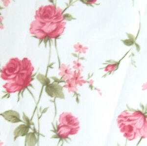 NYLON-PU-COATED-WATERPROOF-OUTDOOR-FABRIC-FLORAL-PINK-ROSE-ON-WHITE-IVORY-58-034-W