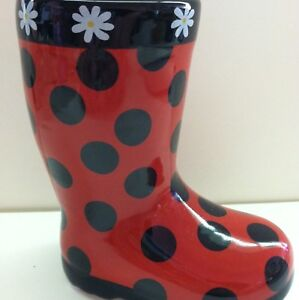 yankee candle polka dot boot votive holder cute. Black Bedroom Furniture Sets. Home Design Ideas
