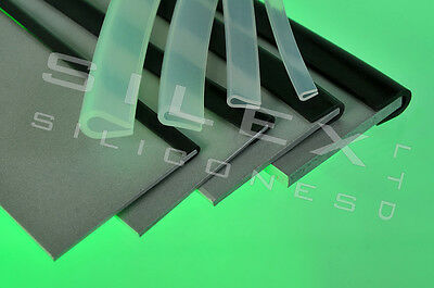 Rubber edging strip silicone U channel edge protection 2.1mm gap Black