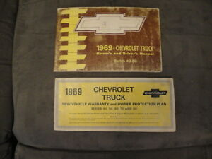 1969-Chevrolet-Truck-Series-40-80-OWNERS-MANUAL-w-PROTO-PLATE-Original-Chevy
