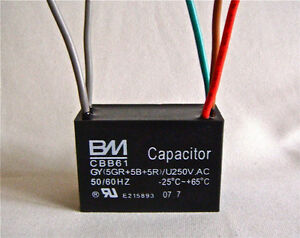 Ceiling Fan Capacitor Cbb61 5uf 5uf 5uf 5 Wire