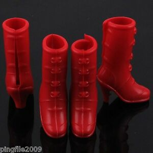 Barbie-Shoes-Boots-High-Heel-Shoe-Red