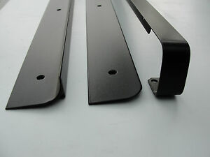 Kitchen-Worktop-Edging-Strip-End-Corner-Straight-Black-Silver-30-40mm